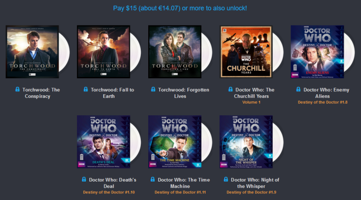 Humble AudioBook Bundle - Doctor Who y Torchwood - 15E
