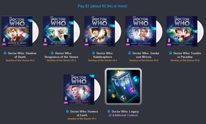 Humble AudioBook Bundle - Doctor Who y Torchwood - 1E